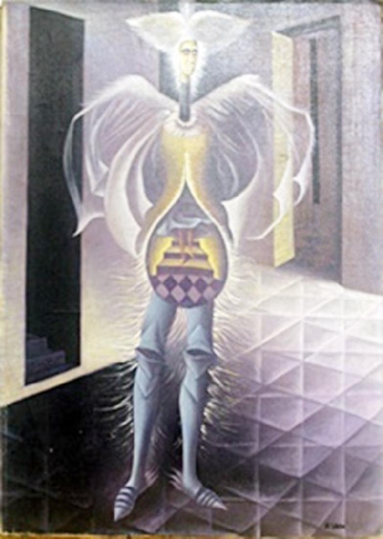 El Embarazo - Oil Painting on Canvas - Remedios Varo