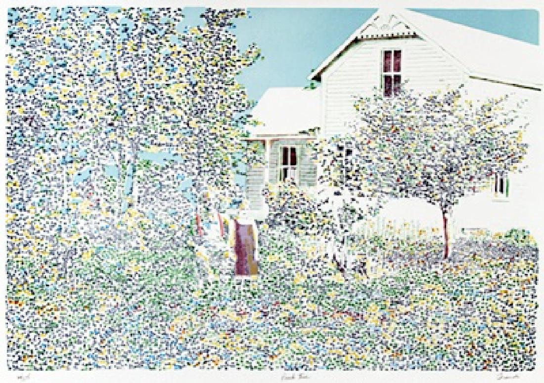 """Lithograph """"Peach Tree"""" after Traudi"""