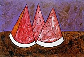 Tres Sandias - Oil Painting On Paper - Rufino Tamayo