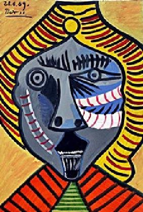 Bust Of A Man 1969' - Oil On Paper - Pablo Picasso