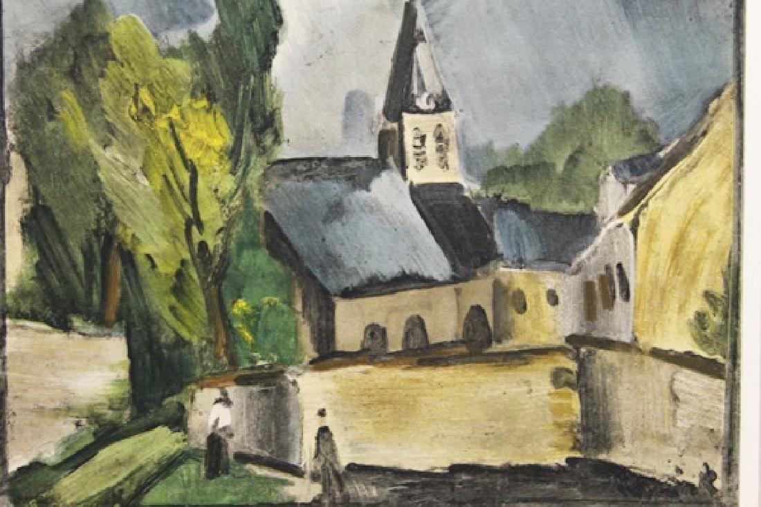 Church At Bougival - Maurice De Vlaminck - Lithograph - 2