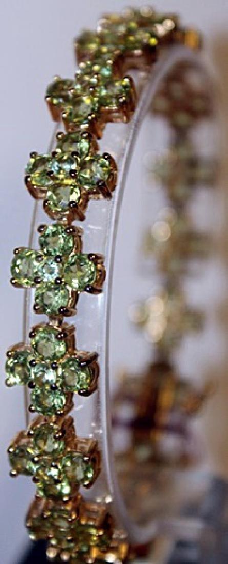 Gorgeous Peridot and Diamond Bracelet