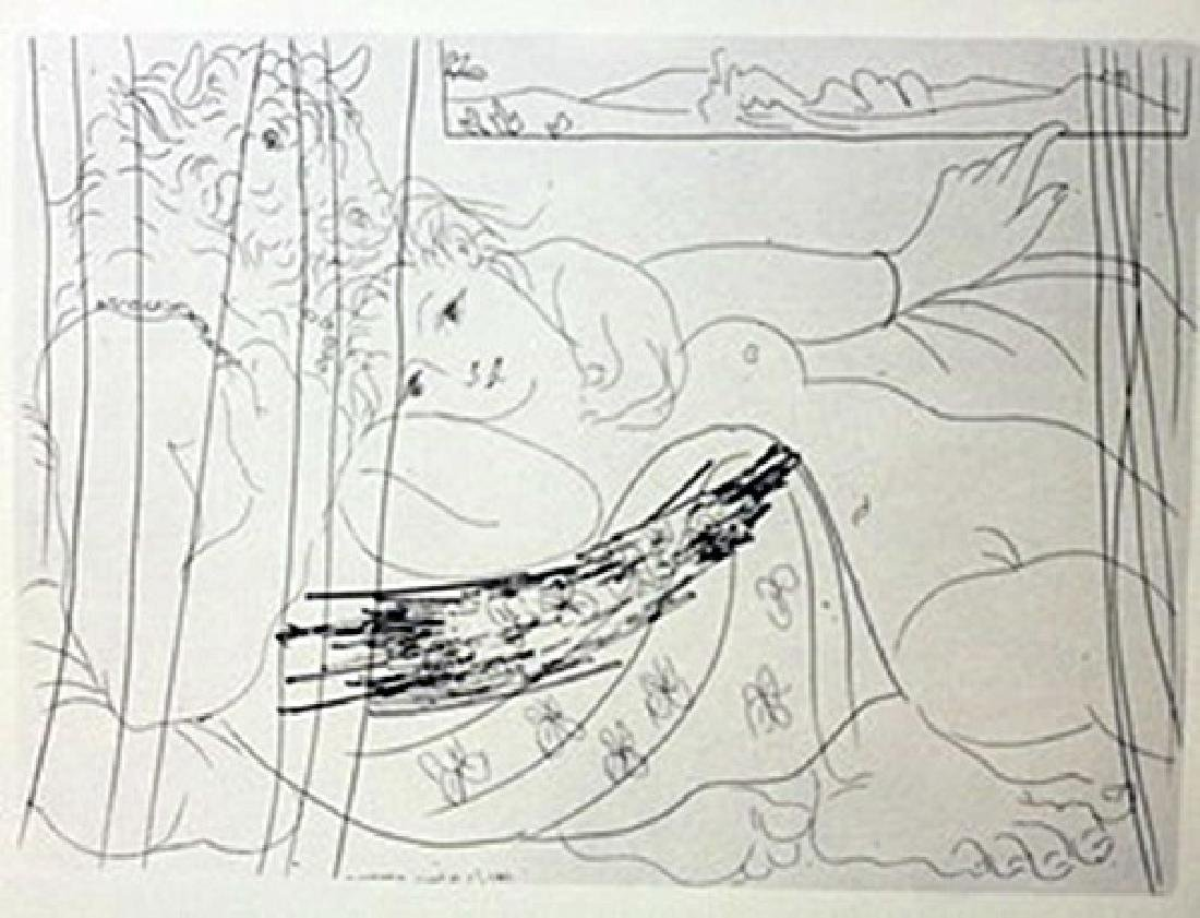 minotaur with model lithograph  -  Picasso