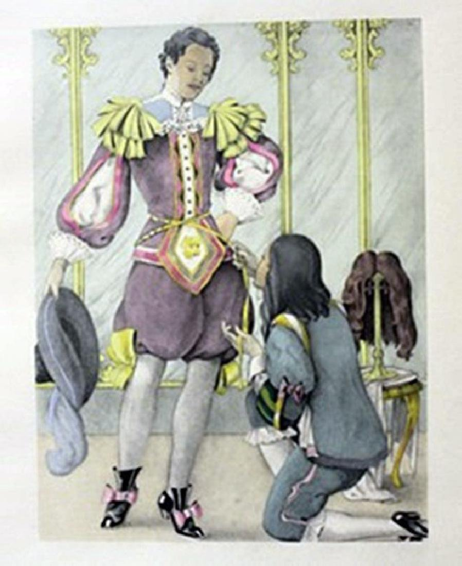 Day at the Tailor - Lithograph -  legrand