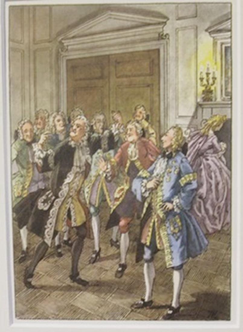 Men In The courthouse- Lithograph -  Cleland
