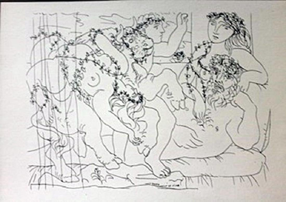 Sculptor and bull lithograph -  Picasso