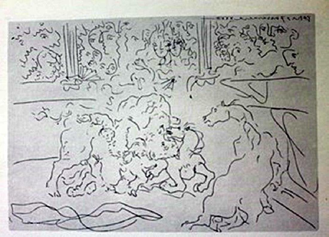 Bull Fight - Lithograph -  Picasso