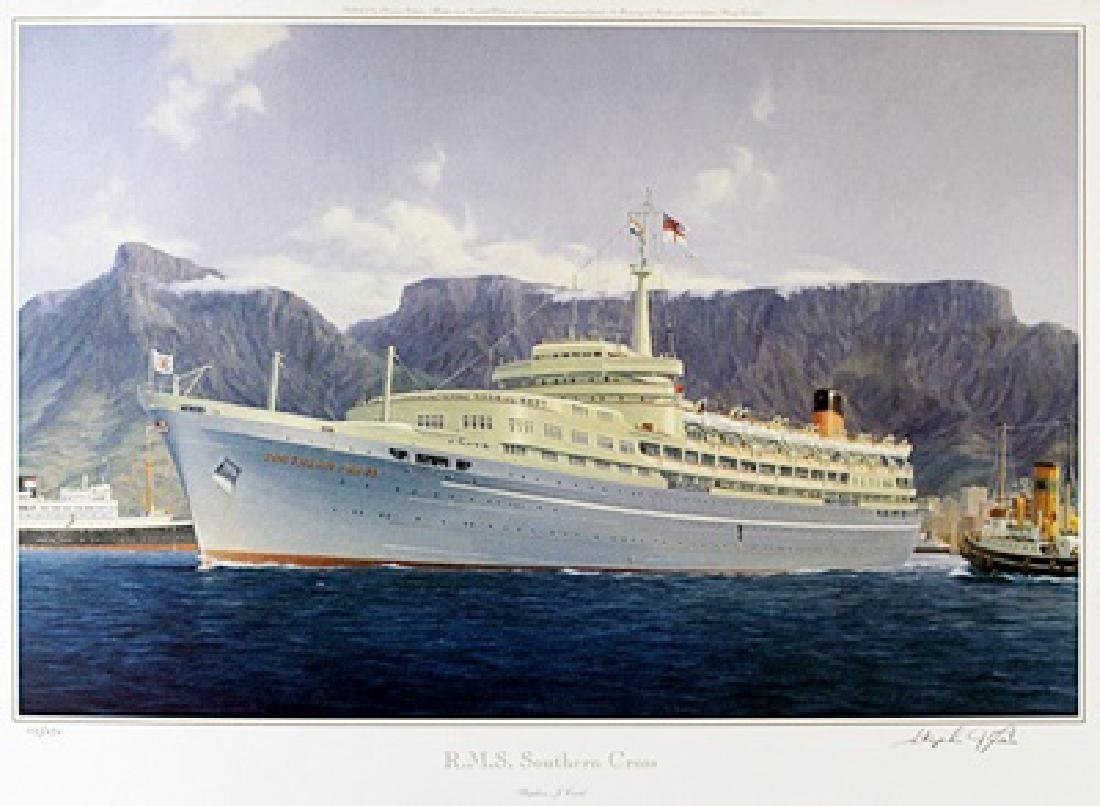 "Lithograph ""R.M.S. Southern Cross"" after Stephen J."