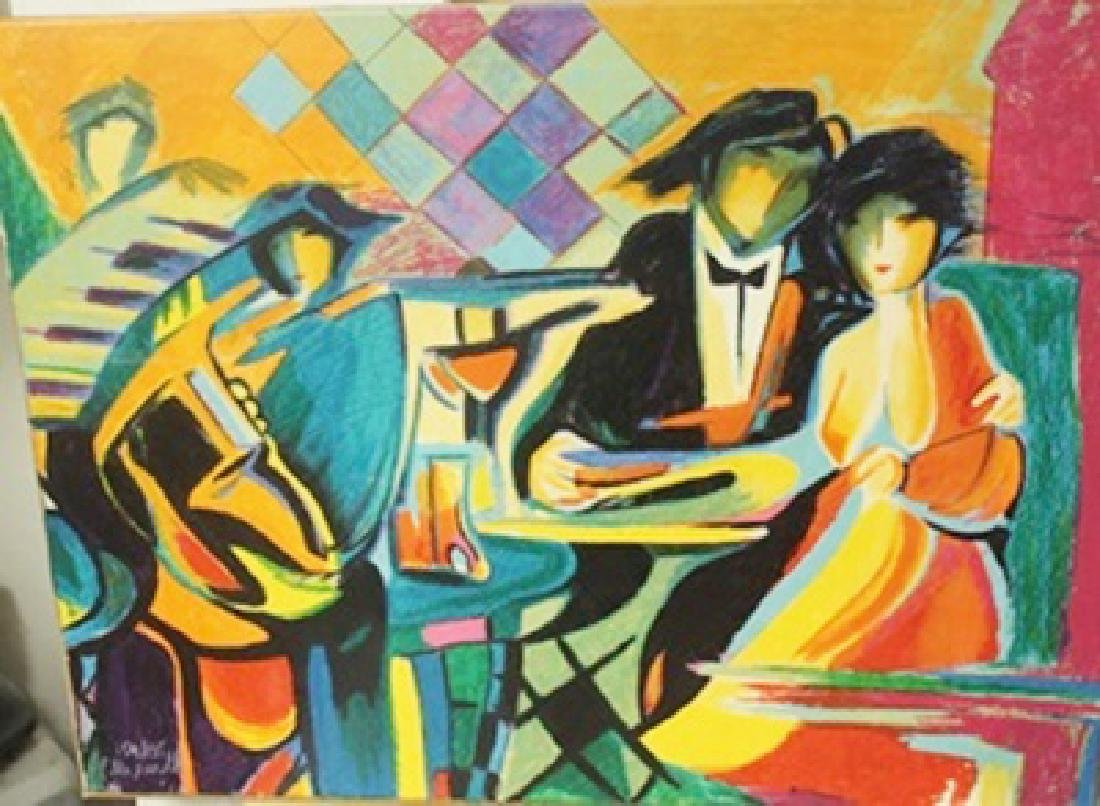 The Jazz club  - Lithograph on canvas -  Max Phelp