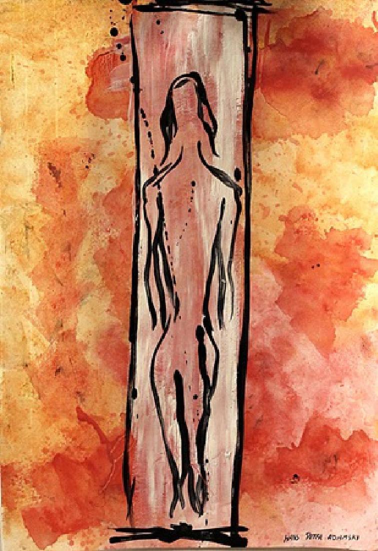 The Death - Hans Peter Adamski - Oil On Paper