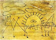 Portrait of an Artist - Oil on Laid Paper - Paul Klee