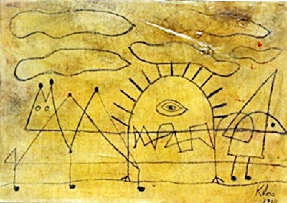 Portrait of an Artist - Oil on Laid Paper - Paul Klee