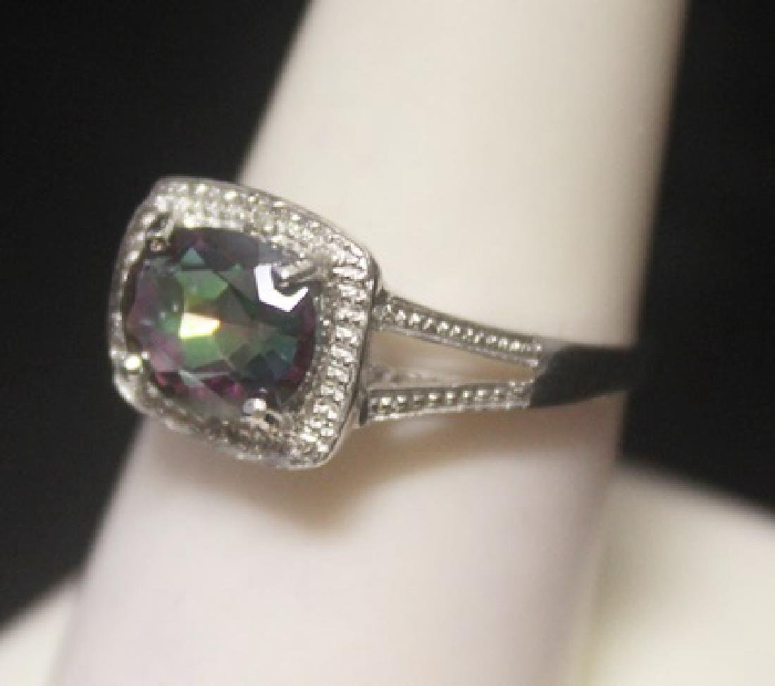 Gorgeous Russian Alexandrite & Diamonds  Silver Ring - 2