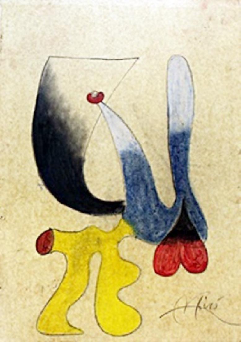 El Perro - Pastel Drawing on Paper - Joan Miro