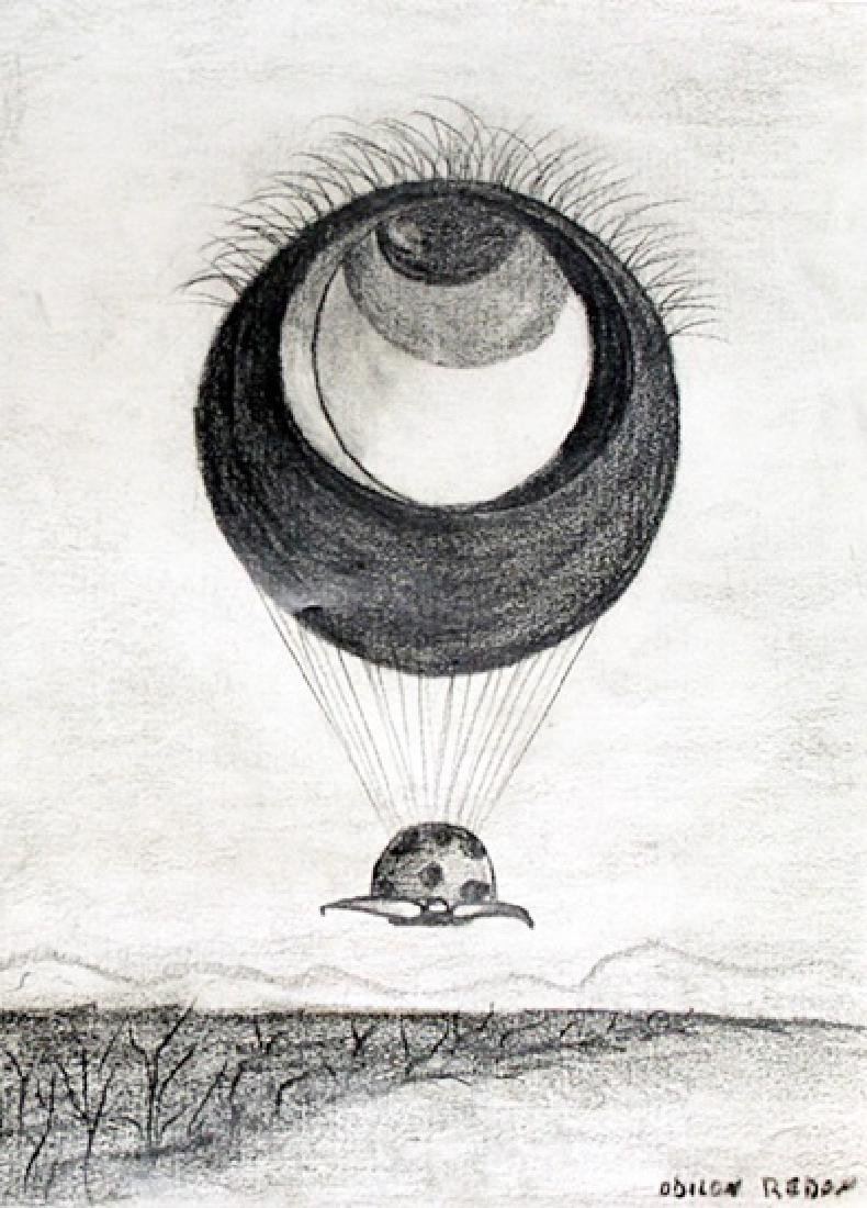 The Eye - Drawing on Paper - Odilon Redon