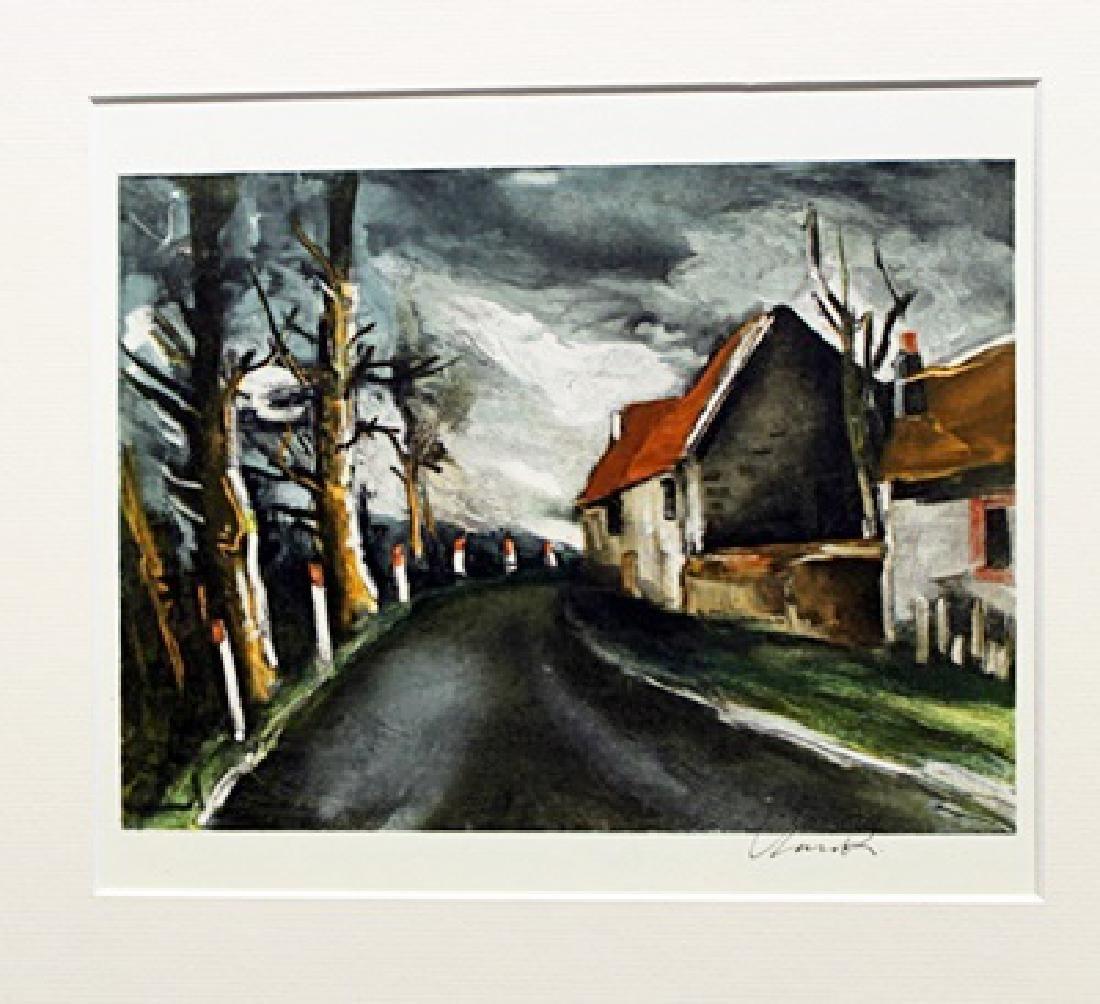 The Longny Road - Maurice De Vlaminck - Lithograph
