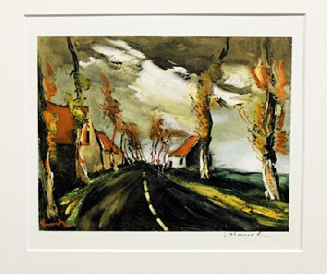 The Mortagne Road - Maurice De Vlaminck - Lithograph