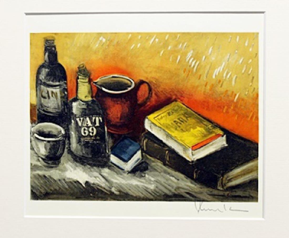 Still Life With Books And Bottles - Maurice De Vlaminck
