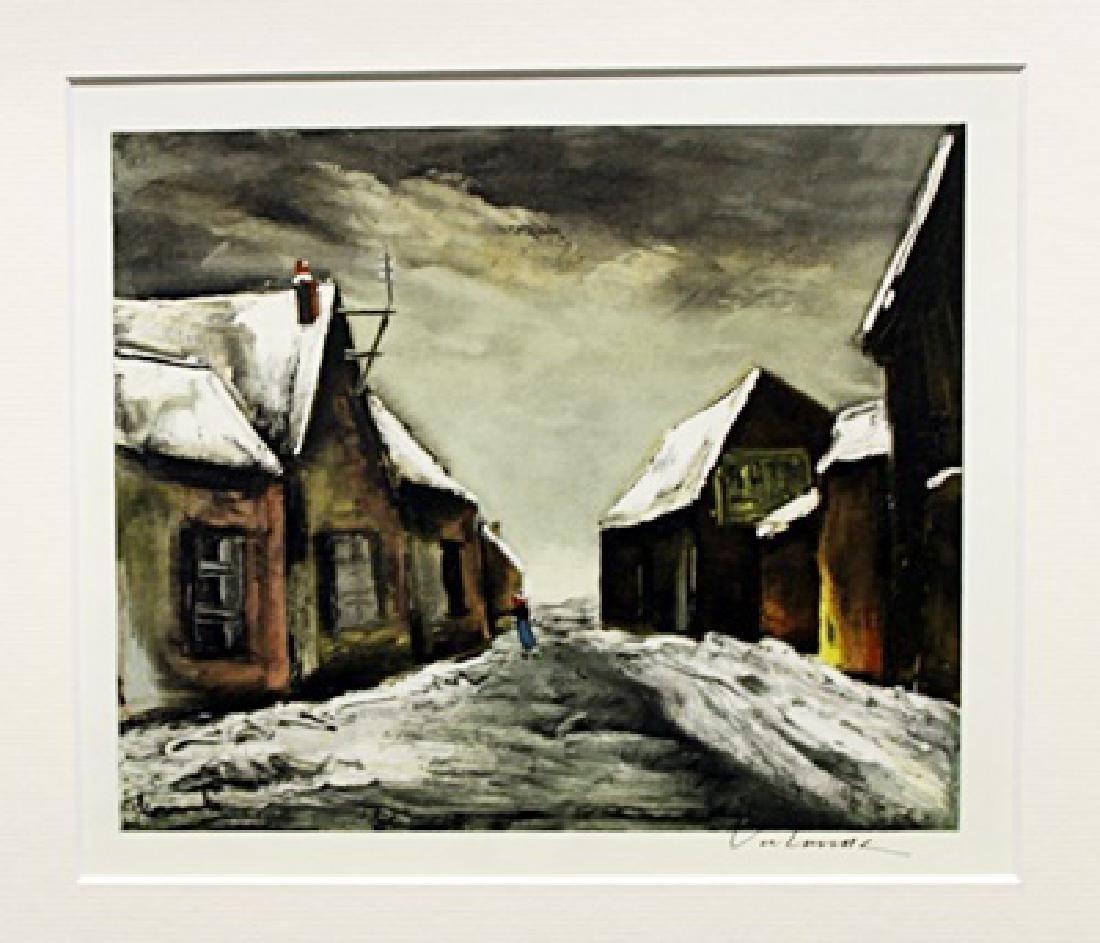Allainville Under Snow - Maurice De Vlaminck -