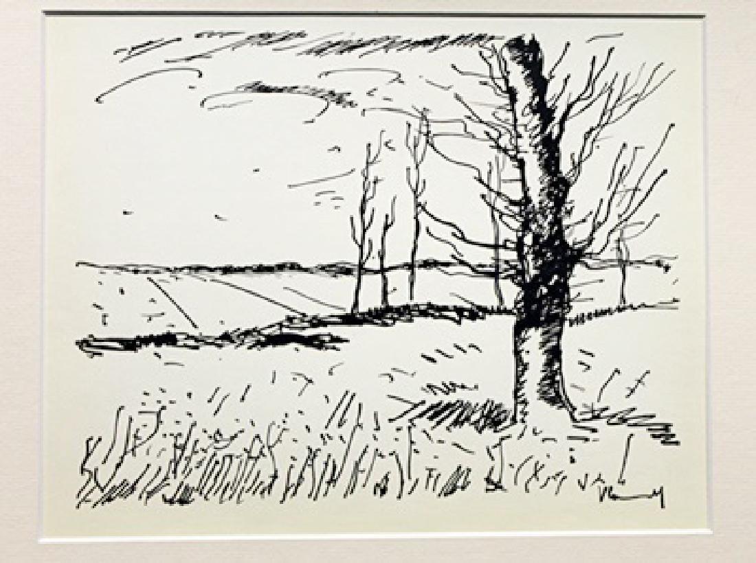 Valley Of The Avre - Maurice De Vlaminck - Lithograph
