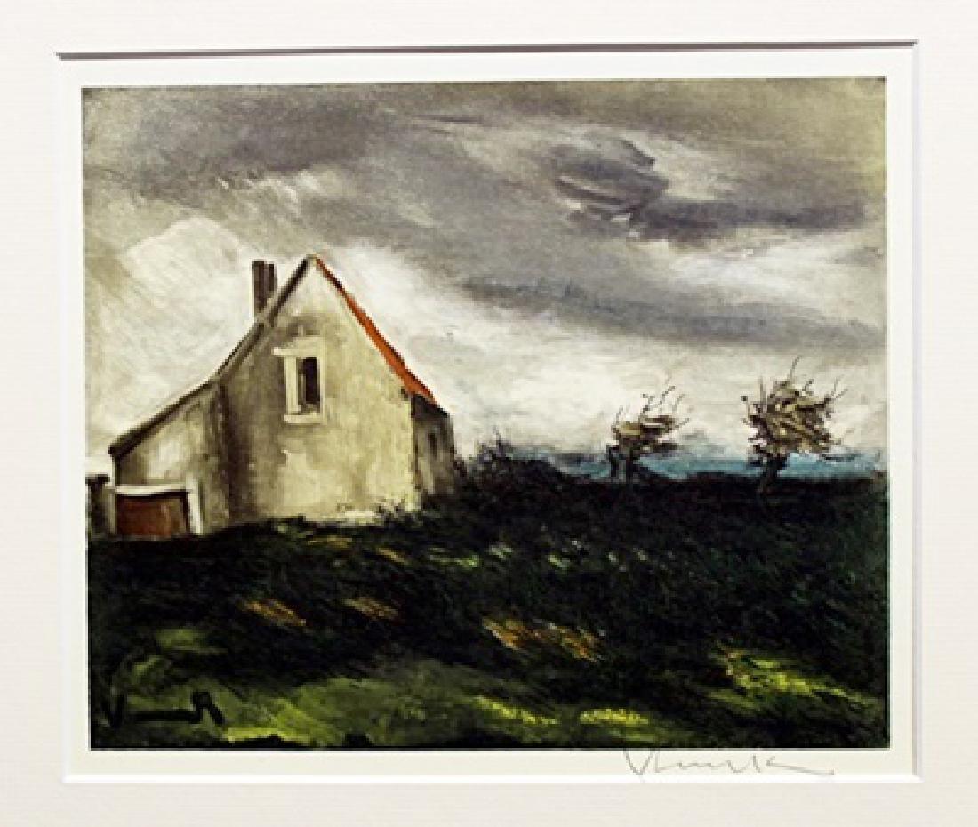 The House On The Plain - Maurice De Vlaminck -