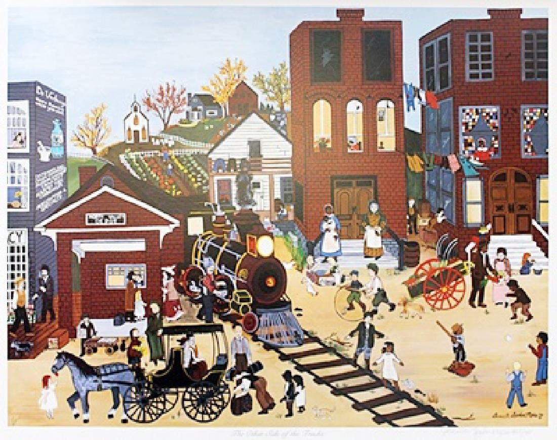 """Lithograph """"The Other Side of the Tracks"""" after"""