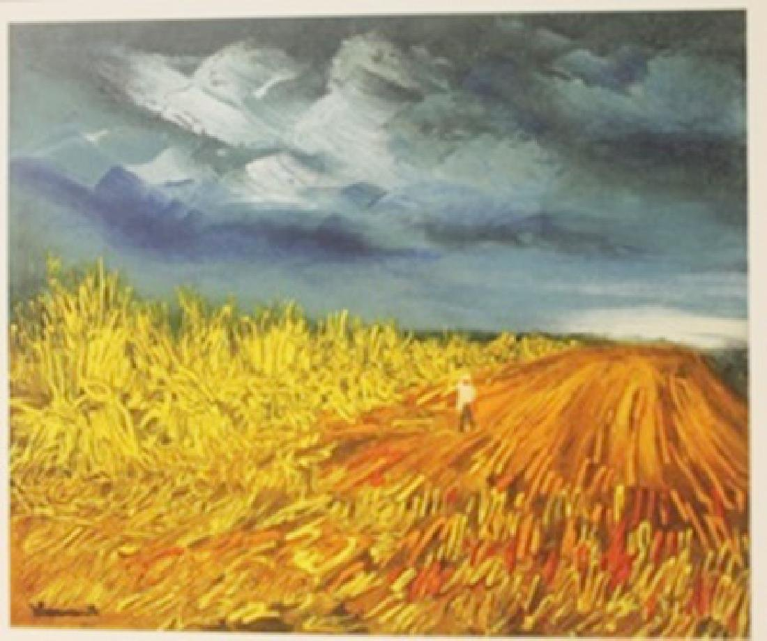 The harvest 1945 - litghograph -  Maurice de Vlaminck