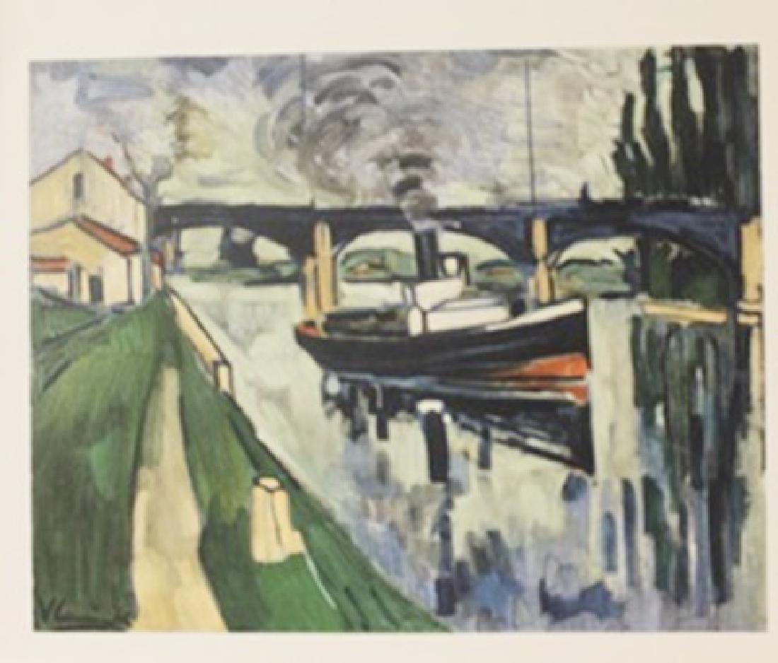 The Seine at possy - Lithograph -  Maurice de Vlaminck