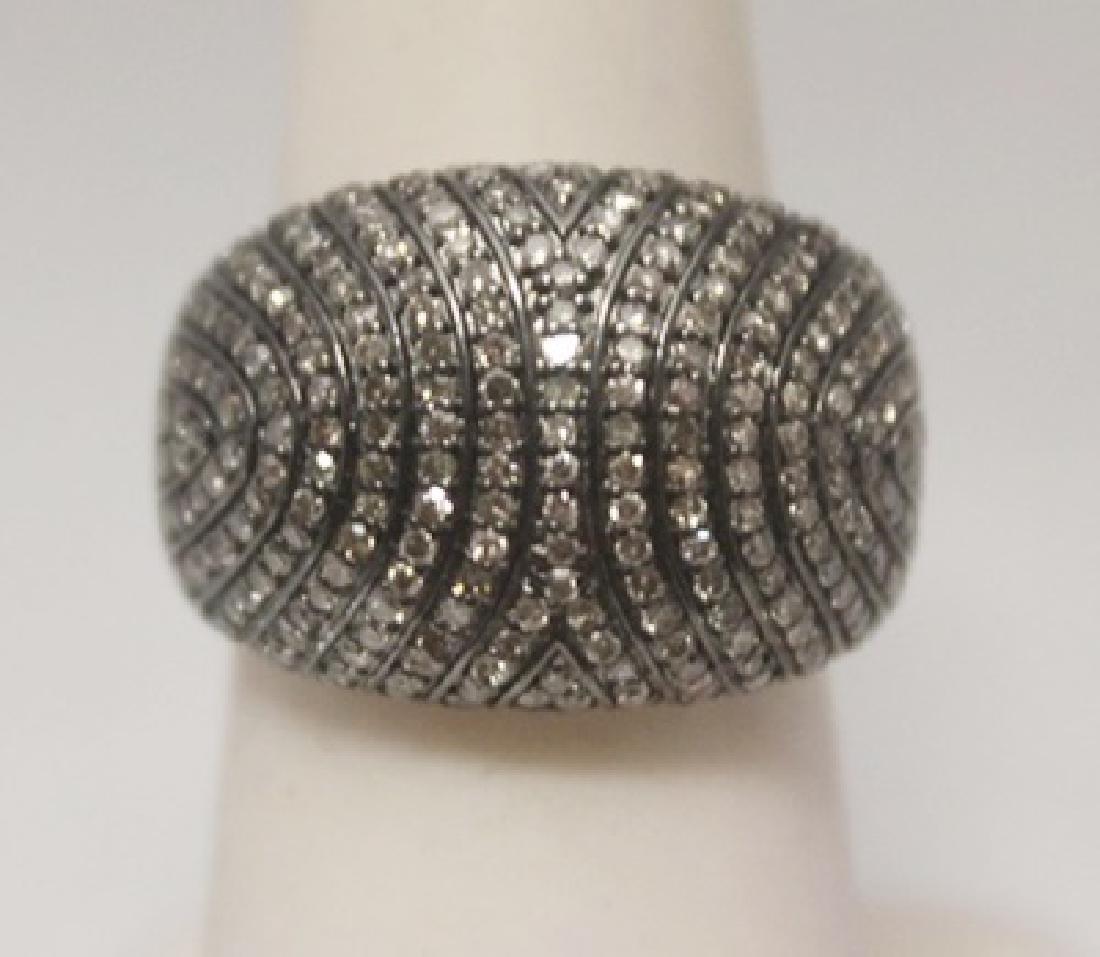 Lavish White Diamonds Silver Ring