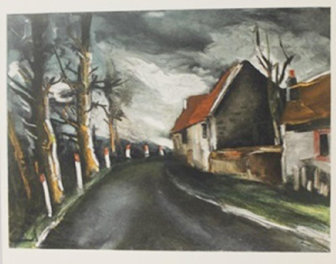 The long road - Lithograph  -  Maurice de Vlaminck
