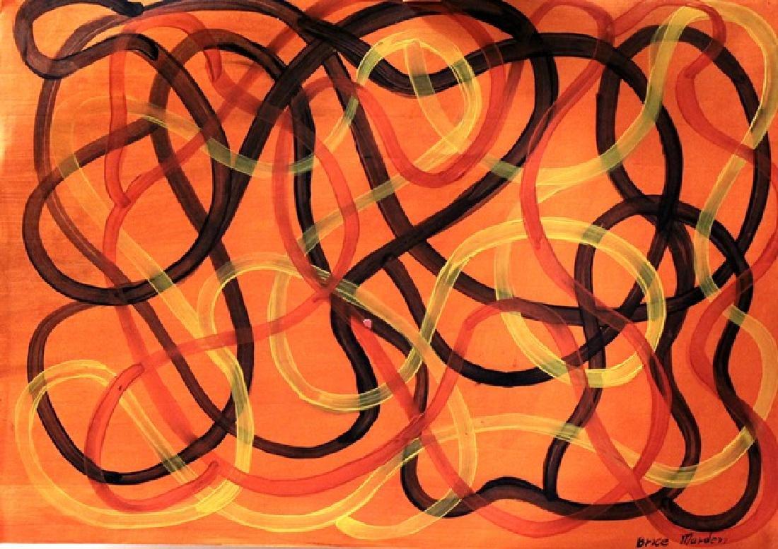 Brice Marden - Oil On Paper