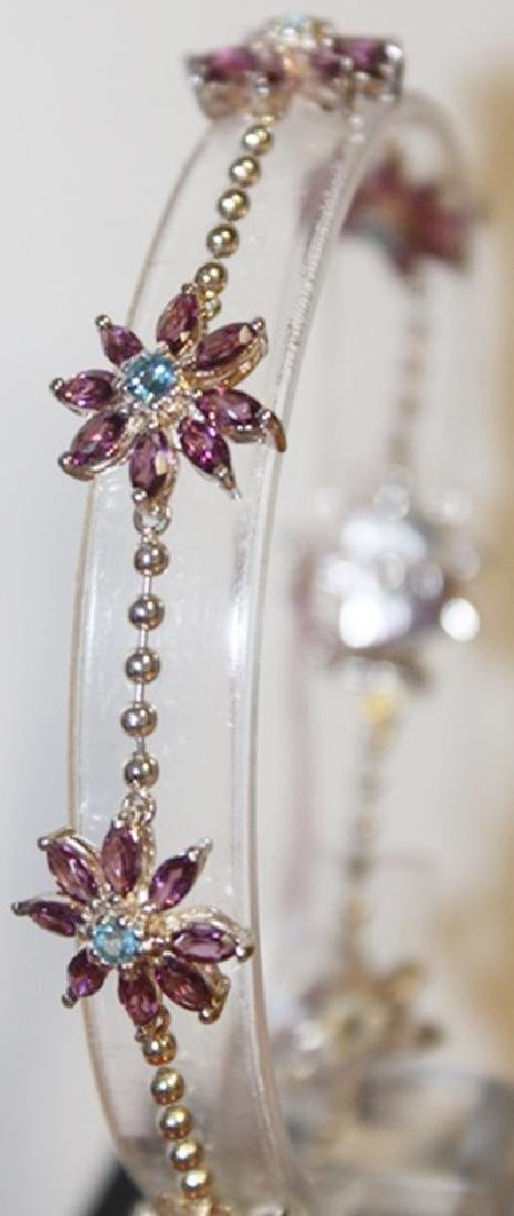 Fancy Diamond, Amethyst, and Topaz Bracelet