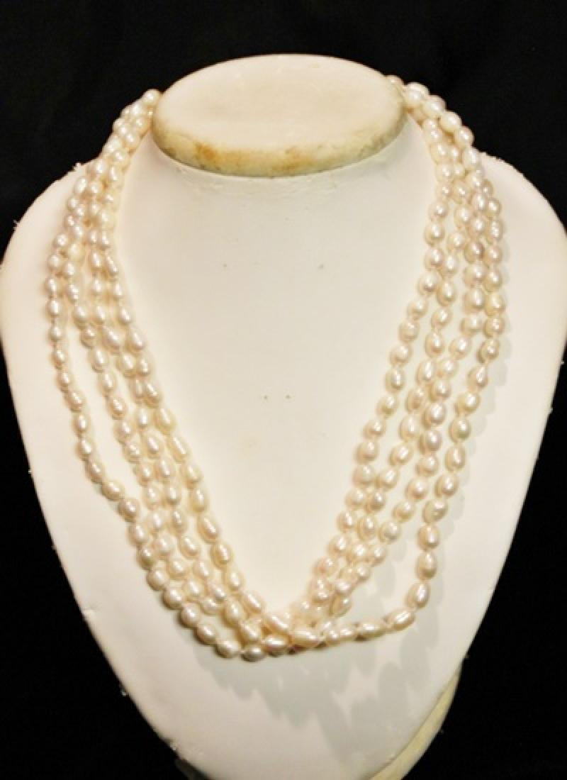 Baroque Ivory Color Pearl Necklace