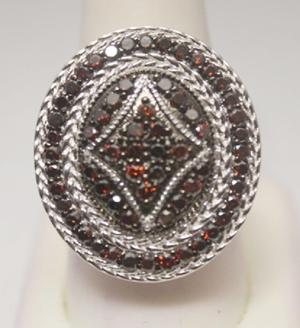 Very Fancy Red Diamonds Silver Ring