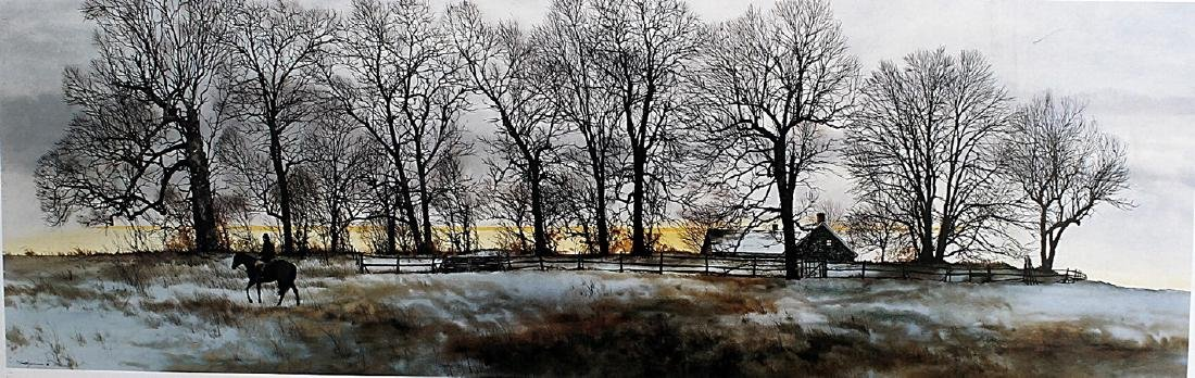 Hedgerow - Peter Sculthorpe - Lithograph