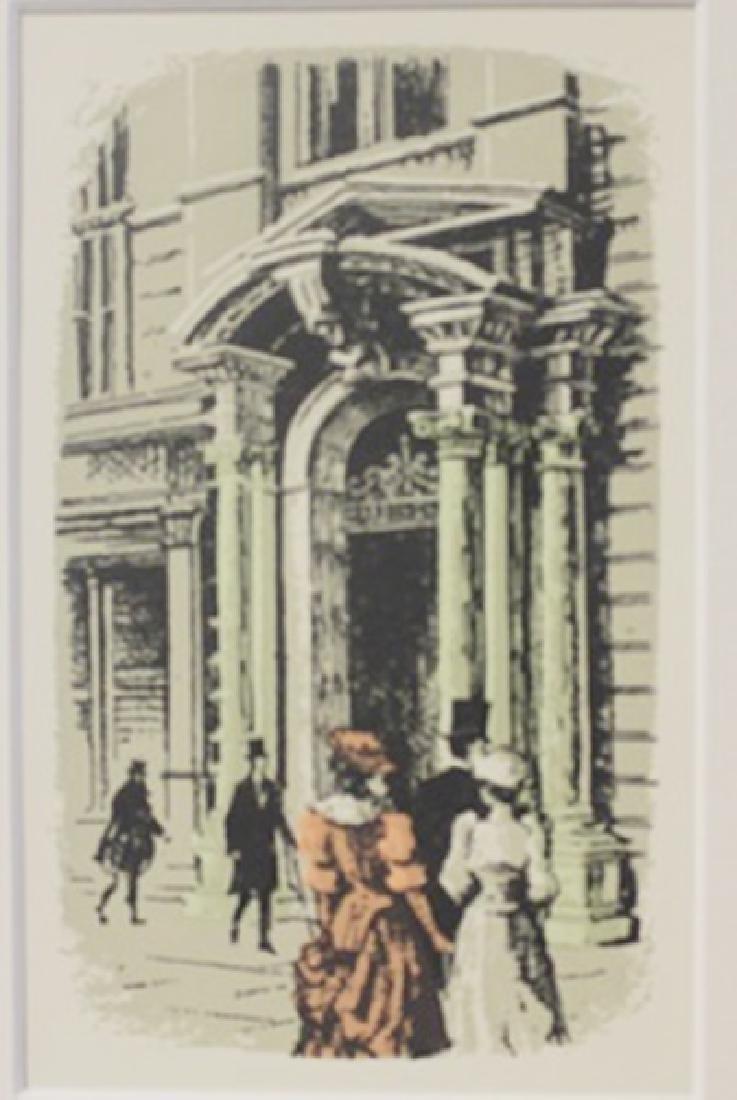 Outside the bank - Litho -  Lamb