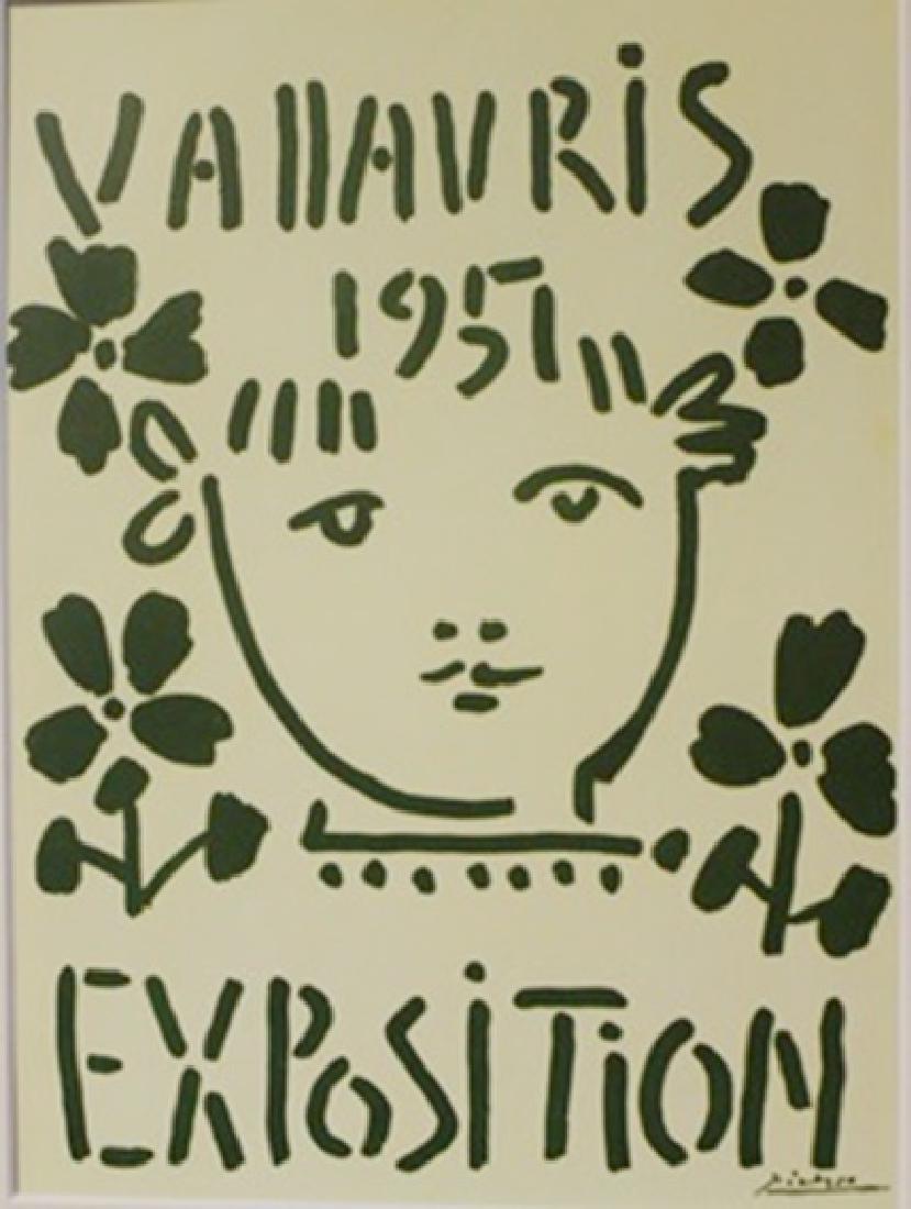 Vallavris Expo 1957 litho -  Picasso