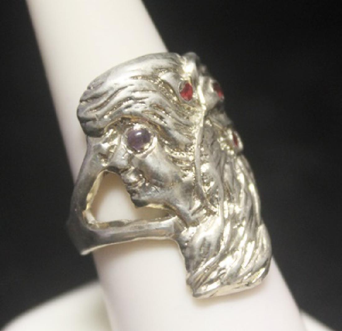 Stunning Custom Queen Ruby Silver Ring