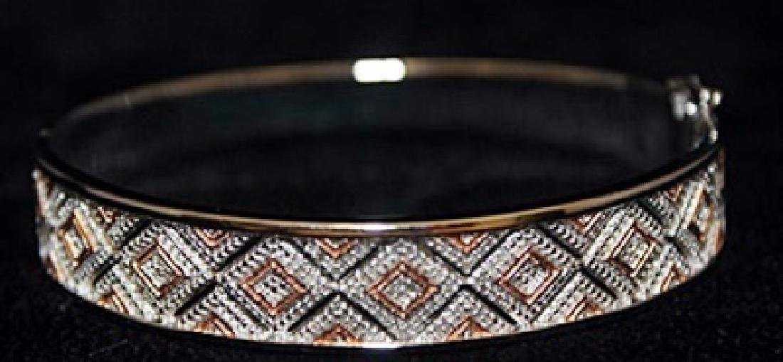 Beautiful 14kt over Silver Bracelet with Diamonds