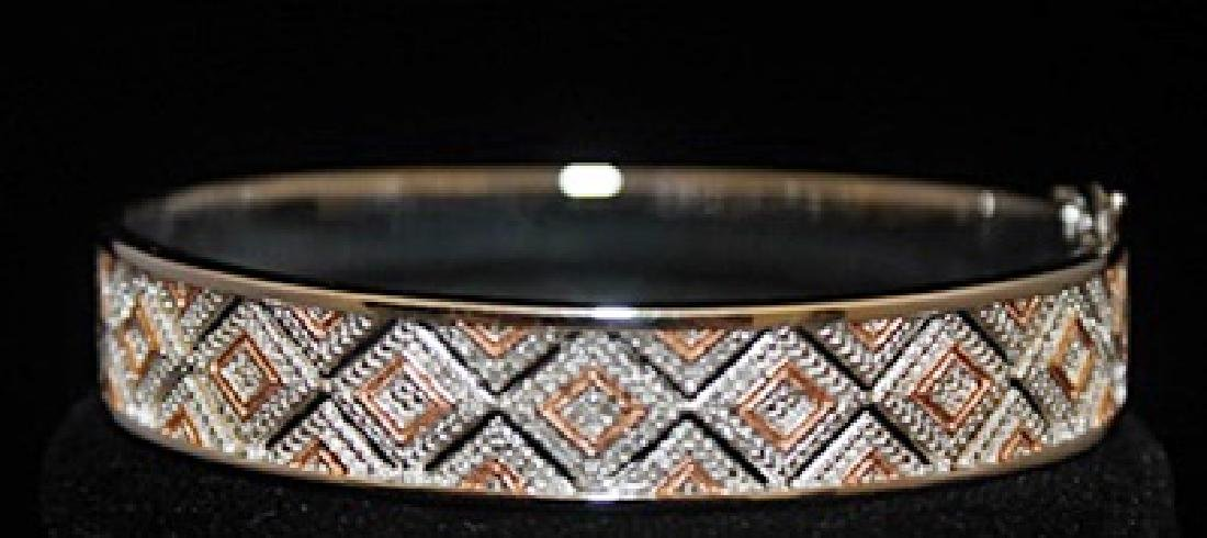 Beautiful 14kt over Silver Bracelet with Diamonds - 2