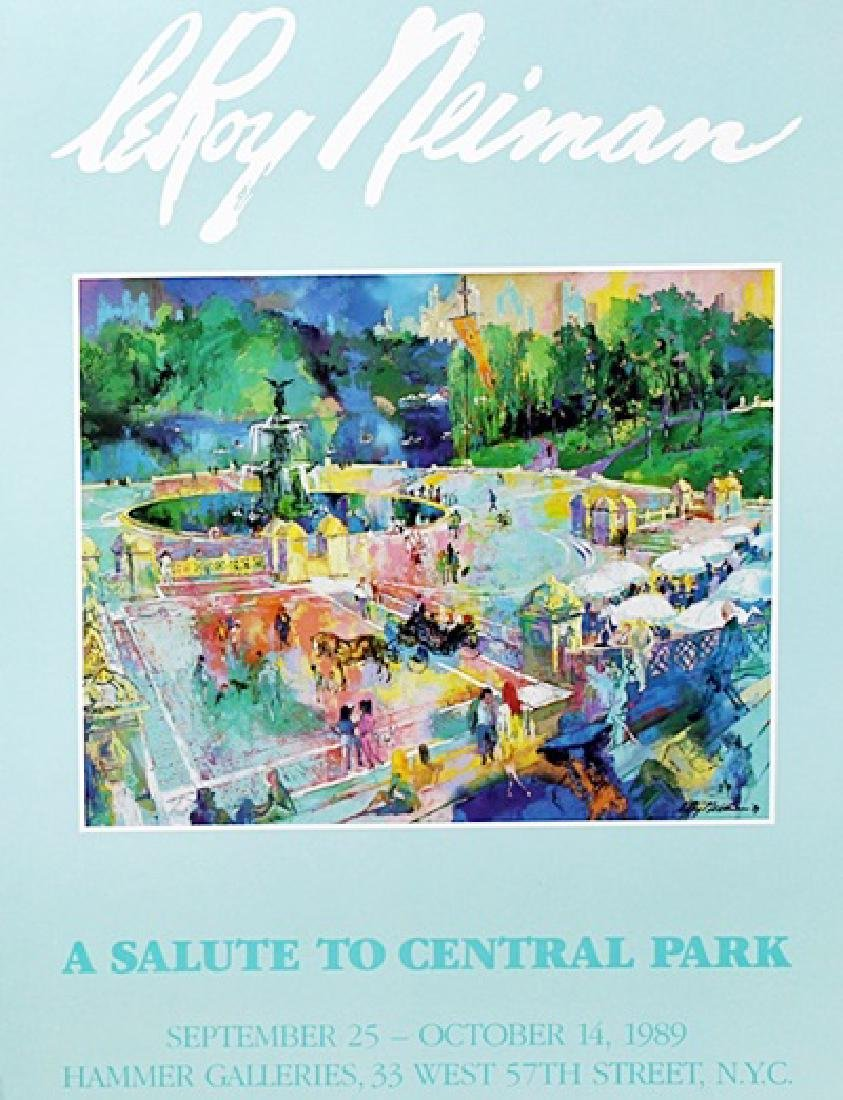 """Print """"A Salute to Central Park"""" after Leroy Neiman"""