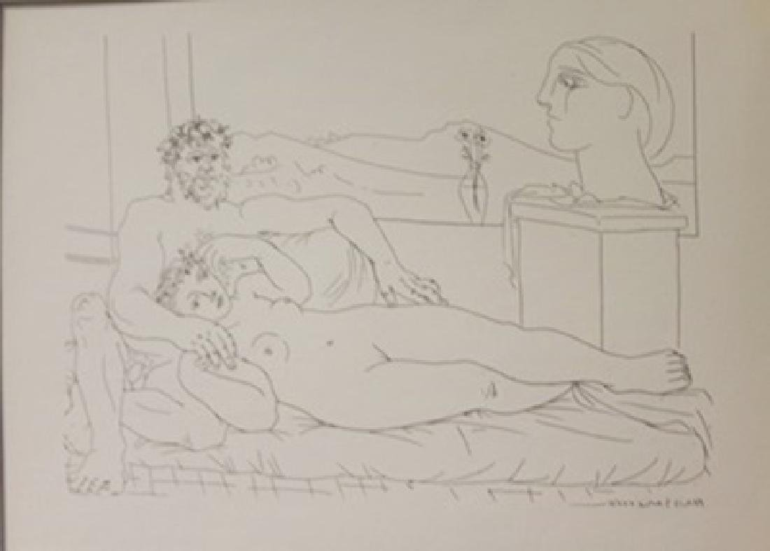 Sculptor and model  window lithograph- Picasso