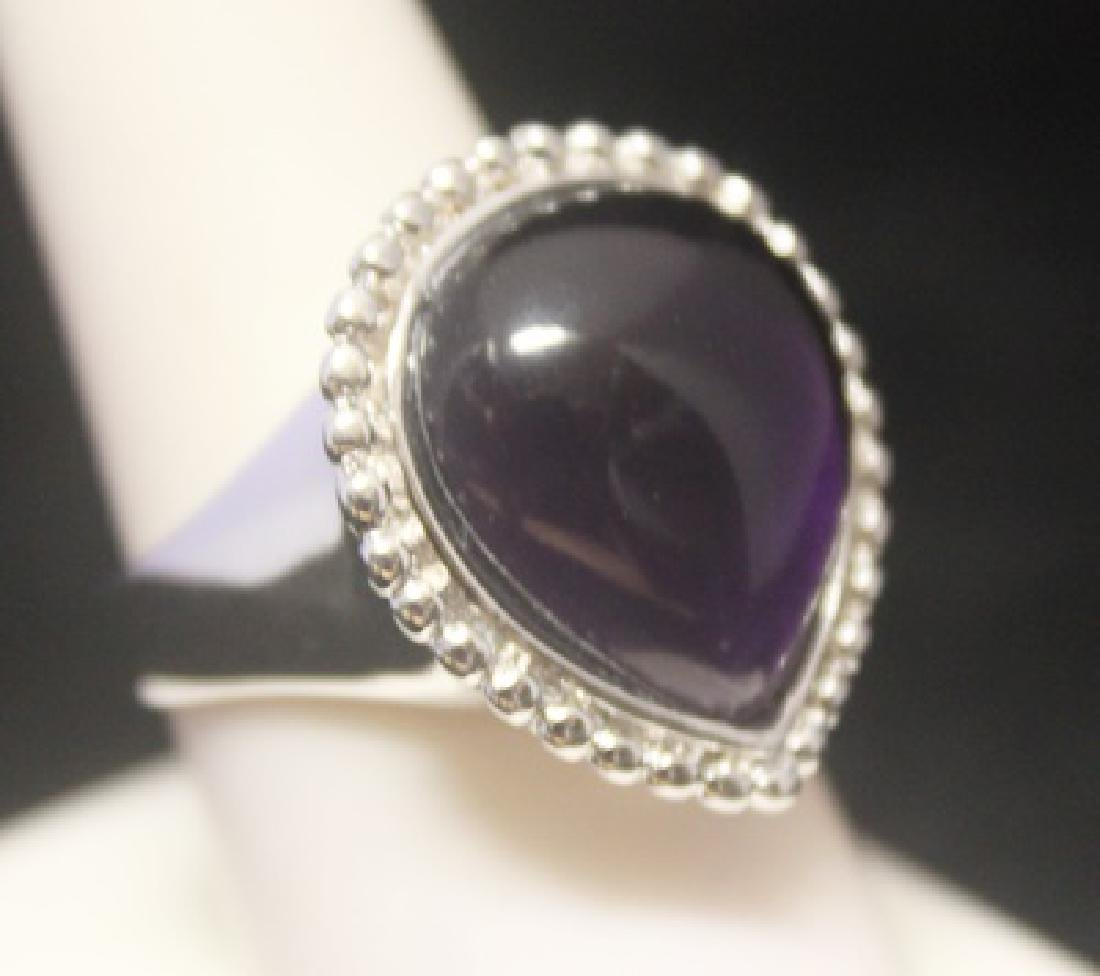 Beautiful Sapphire Silver Ring