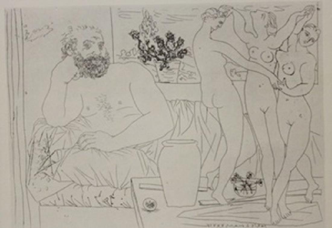 Man and three Nudes Lithograph -  Picasso