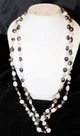 Baroque Silver/Grey Color Pearl Necklace