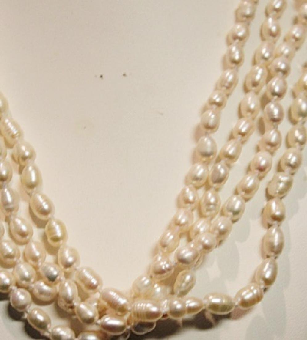 Baroque Ivory Color Pearl Necklace - 3