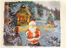 """Santa Leaving Cabin"" By Michael Schofield"