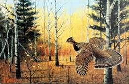 "Print ""Heartland Grouse"" after Les C. Kouba"