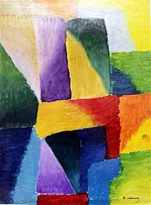 Hand Signed Oil Painting Robert Delaunay