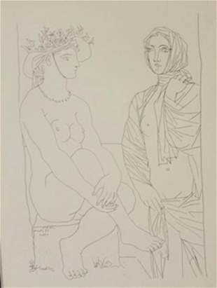Two Women 1933 Lithograph Picasso 2